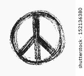 Red Peace Symbol Created In...
