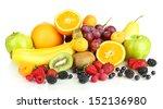 fresh fruits and berries... | Shutterstock . vector #152136980