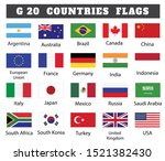 g 20 countries flags collection   Shutterstock .eps vector #1521382430