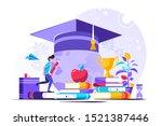education vector illustration.... | Shutterstock .eps vector #1521387446