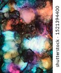 Photo represenation of an Abstract Alcohol Ink art piece