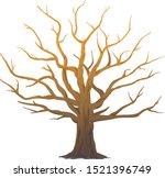 one wide massive old oak tree... | Shutterstock .eps vector #1521396749