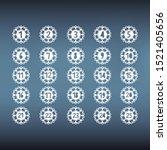 advent calendar numbers... | Shutterstock .eps vector #1521405656