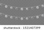 christmas decorations  garlands ... | Shutterstock .eps vector #1521407399