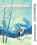 Grindelwald Travel Poster With...