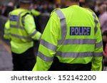 police in hi visibility jackets ... | Shutterstock . vector #152142200