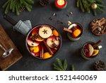 christmas mulled wine for... | Shutterstock . vector #1521440069