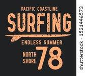 surf typography  tee shirt...   Shutterstock .eps vector #1521446573