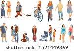 crowd of people performing... | Shutterstock .eps vector #1521449369