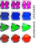 shiny metallic glowing control... | Shutterstock . vector #15214633