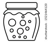 tasty jam jar icon. outline... | Shutterstock .eps vector #1521464120