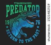 Dinosaur Rex Illustration  Tee...