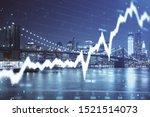 financial graph on night city... | Shutterstock . vector #1521514073