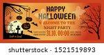 halloween night party... | Shutterstock .eps vector #1521519893