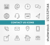 contact us icons set  line icon | Shutterstock .eps vector #1521529166