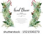botanical natural flower... | Shutterstock .eps vector #1521530273