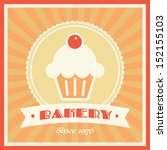 bakery shop vector retro banner ... | Shutterstock .eps vector #152155103
