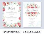 wedding card with elegant... | Shutterstock .eps vector #1521566666