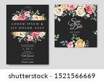 wedding card with elegant... | Shutterstock .eps vector #1521566669