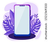 modern purple smart phone mock...
