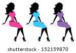 fashion diva silhouette   Shutterstock .eps vector #152159870
