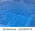 Metallic Blue Car With Water...