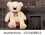 Soft Toy Bear Sits On A Chair....