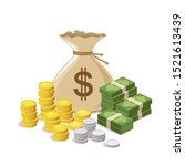 money bag vector design... | Shutterstock .eps vector #1521613439