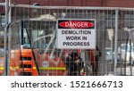 Danger  Demolition Work In...