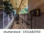 Small photo of abandoned old reversing gear with isolators