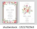 beautiful wedding card template ... | Shutterstock .eps vector #1521702563