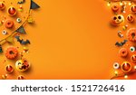 halloween  background with... | Shutterstock .eps vector #1521726416