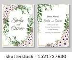 vector template for wedding... | Shutterstock .eps vector #1521737630