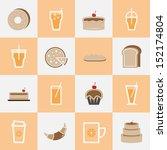 set of bakery and orange juice...   Shutterstock .eps vector #152174804
