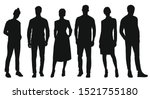 black silhouettes of women and... | Shutterstock .eps vector #1521755180