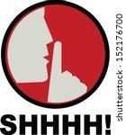 shhhh | Shutterstock .eps vector #152176700
