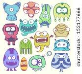 cartoon monstters | Shutterstock .eps vector #152177666