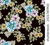 flower print. elegance seamless ... | Shutterstock . vector #1521785903