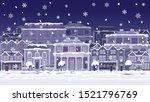 a christmas night street scene...   Shutterstock .eps vector #1521796769