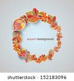autumn background | Shutterstock .eps vector #152183096