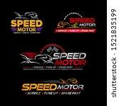 set of racing motorcycle logo... | Shutterstock .eps vector #1521835199