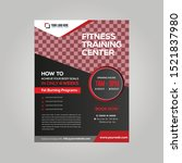 flyer template for sports or... | Shutterstock .eps vector #1521837980
