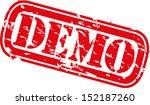 grunge demo rubber stamp ... | Shutterstock .eps vector #152187260