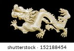 Golden Chinese Dragon Carve In...