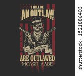 american outlaw illustration vector graphic