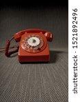 Vintage telephone 1960's in moody, sinister atmosphere.