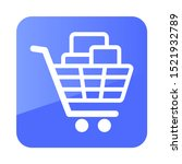 shopping cart with boxes icon....