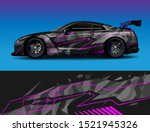 car wrap decal vinyl sticker... | Shutterstock .eps vector #1521945326