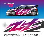 car wrap decal vinyl sticker... | Shutterstock .eps vector #1521945353