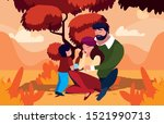mother and father with son in... | Shutterstock .eps vector #1521990713